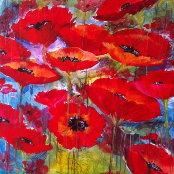 Poppies - Use a picture like this for my craft room?  Love the colors!