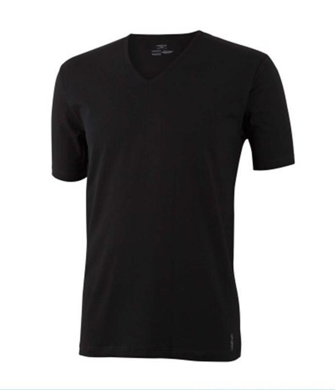ENVÍO 24/48h. Camiseta impetus luxury negra. Cuello pico escotado para que no se note al poner con camisas. Suave y resistente. REF: 3005B32 020. http://www.varelaintimo.com/83-camisetas-manga-corta