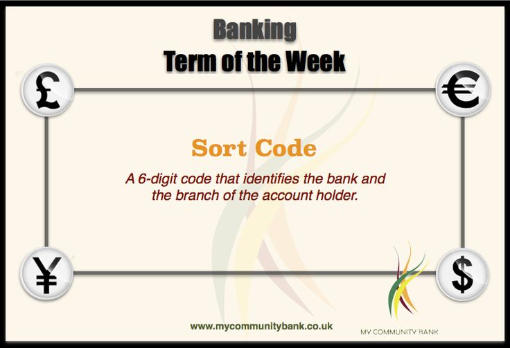 Banking Term of the Week by My Community Bank : Sort Code Decoding Banking - one term at a time.  www.mycommunitybank.co.uk #Banking #Finance #CreditUnion #SortCode