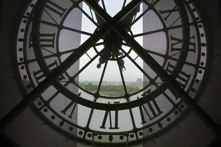 Clock in the D'Orsay Museum, Paris, France