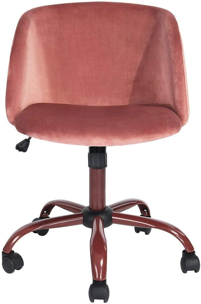 Homy Casa Modern Swivel Desk Chair With Wheels Mid Back Support Serta Accent Armrest Velvet Chairs For Conference Room Home Office In Rose Pink In 2020 Modern Swivel Swivel Chair Desk