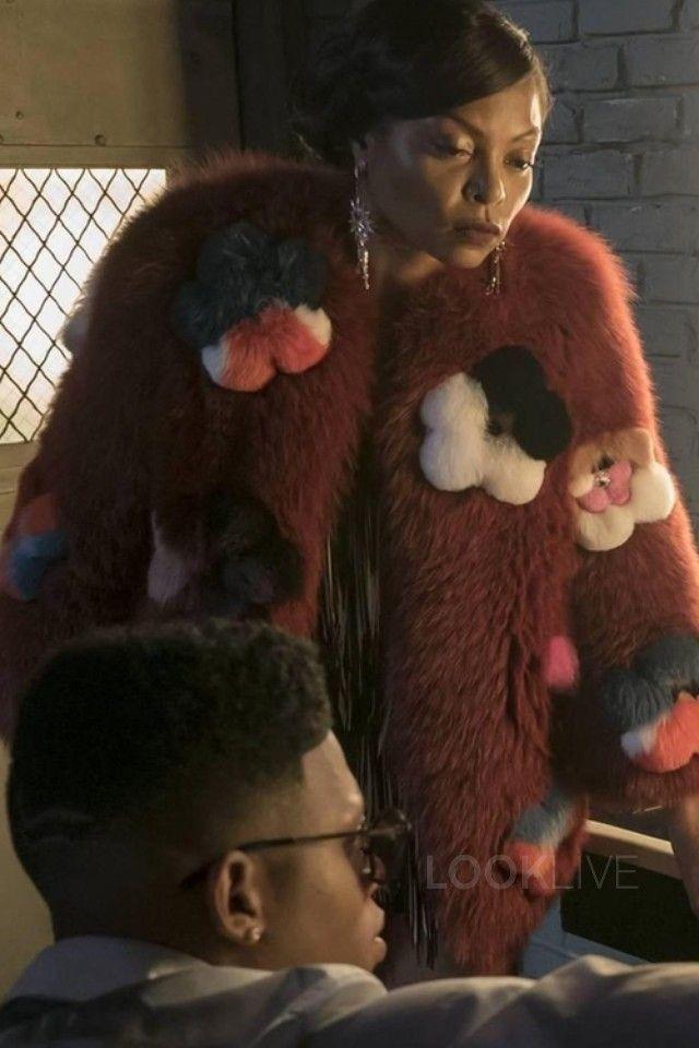 Cookie Lyon wearing  Fendi Flowerland Appliqué Fur Coat