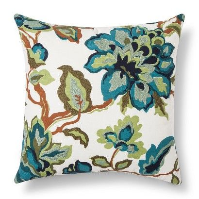 (SUMMER look: small sofa pilows) Threshold™ Multi Floral Throw Pillow - Blue/Green
