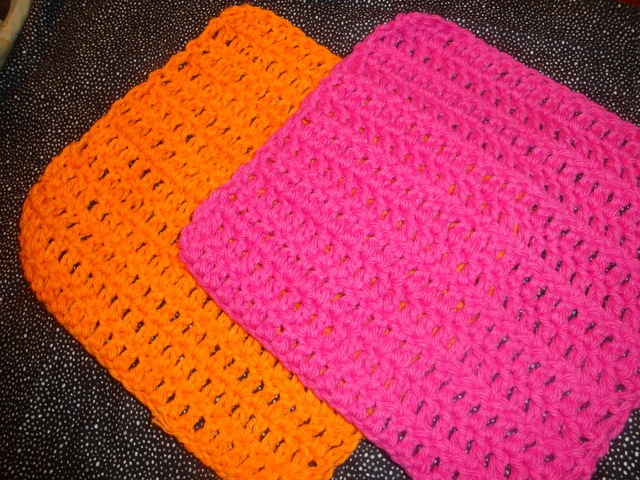 100% Cotton Dishcloths.  Very soft and very durable.