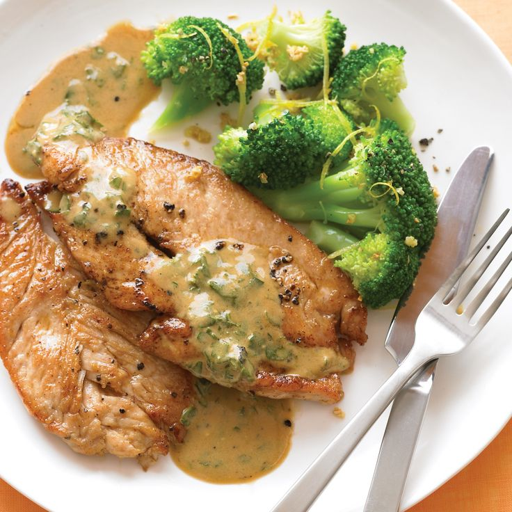 The robust flavor of turkey breast goes particularly well with a mustardy pan sauce.
