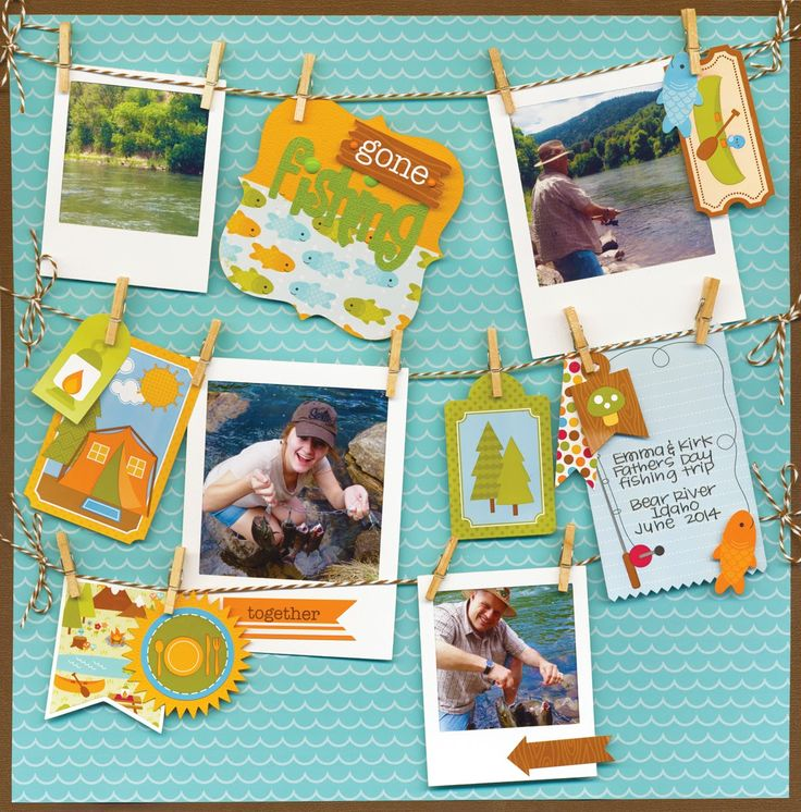 Happy Camper Collection by Doodlebug Design - FUN layout by Lori Allred