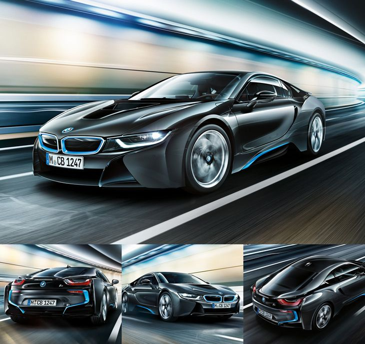 BMW i8  Geleceğe açılan pencere! Karbonfiber destekli plastik kaporta parçaları, arka lastikleri çeviren 228 beygirli 1.5 litrelik dizel motoru ve ona ek olarak öne yerleştirilmiş 129 beygirlik elektrik motoru, yani toplamda 357 beygir gücüyle BMW i8, 0'dan 100'e sadece 4.4 saniyede ulaşıyor...
