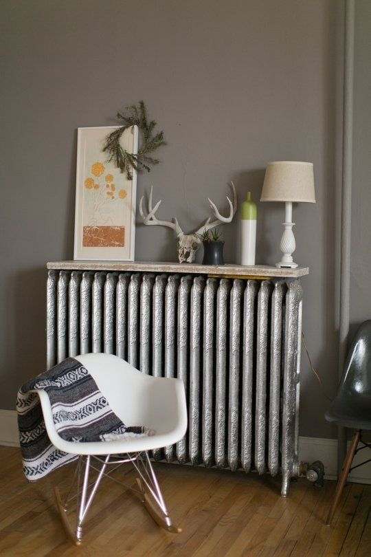 putting a shelf on a radiator? Never even thought about that and what a neat idea! I just have to make sure that whatever I place on the radiator can take the heat.