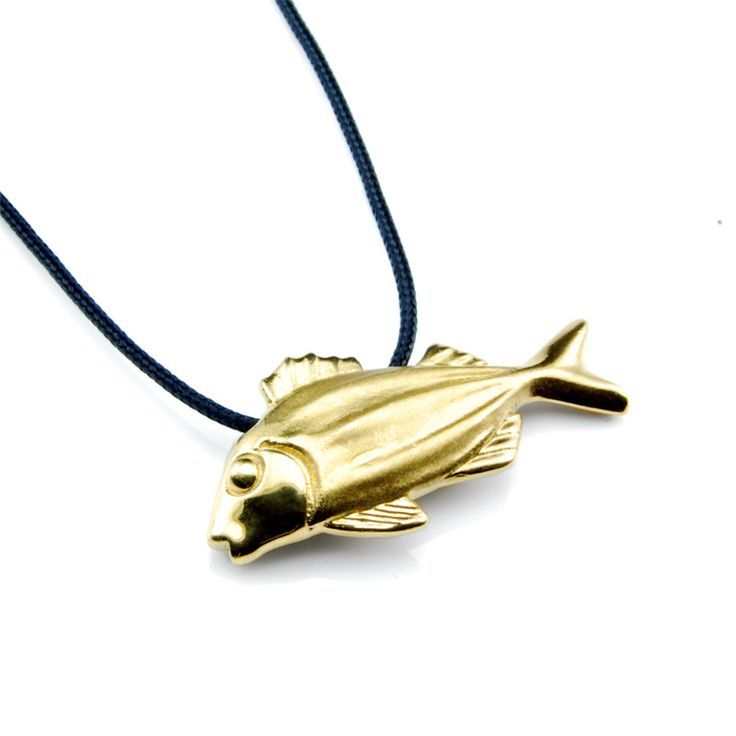 Fish - Gold Plated Silver #fish #pendant #jewelry #summer #gift