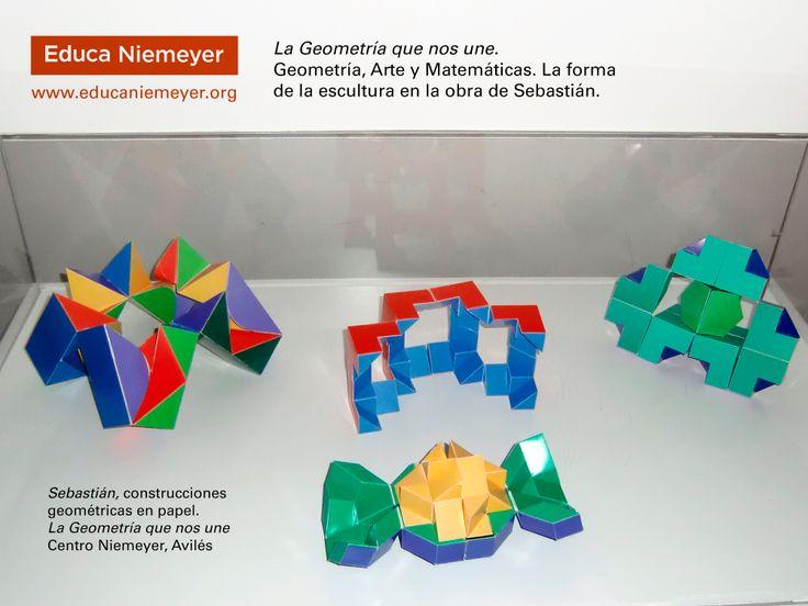 """¿Sabes lo que es un FLEXÁGONO? ¿Y un CALEIDOCICLO? """"Geometría, Arte y Matemáticas. La forma de la escultura en la obra de Sebastián"""". Del 10 de febrero al 16 de mayo de 2014 (Experiencia didáctica para alumnado de educación primaria y secundaria). Más información y guías didácticas en: http://www.educaniemeyer.org/p566985-escolares.html"""