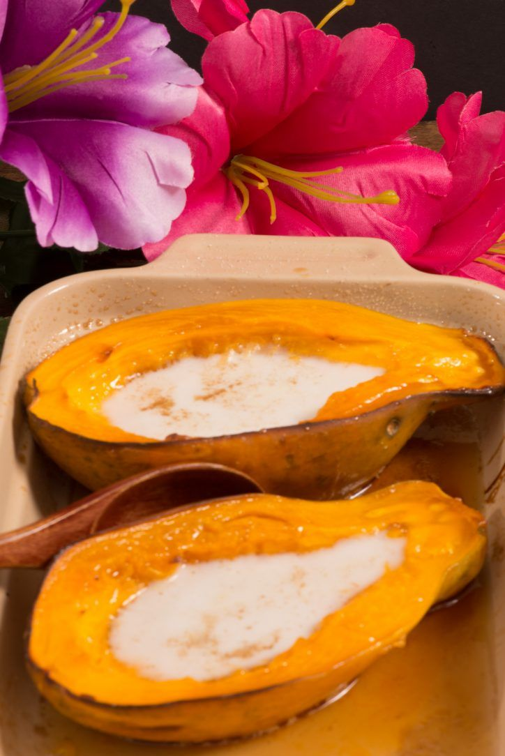 Marshallese baked papaya with coconut cream was a sweet delight. I had never baked papaya before and it was absolutely delicious. This is another very simple recipe from the Marshall Islands that uses readily available ingredients. I was reluctant about the amount of time which is about ...