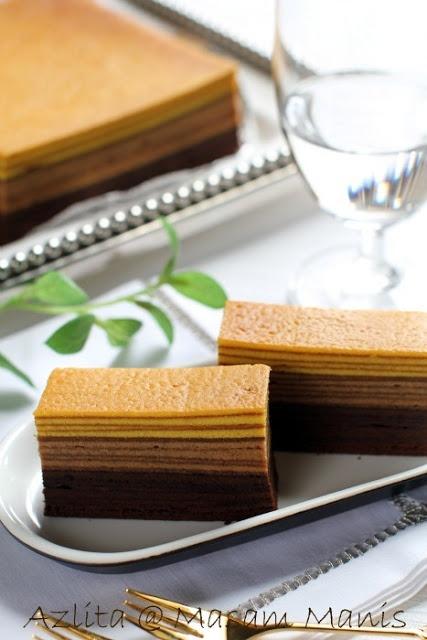 masam manis: KEK lapis chocolate mocha vanilla kayers