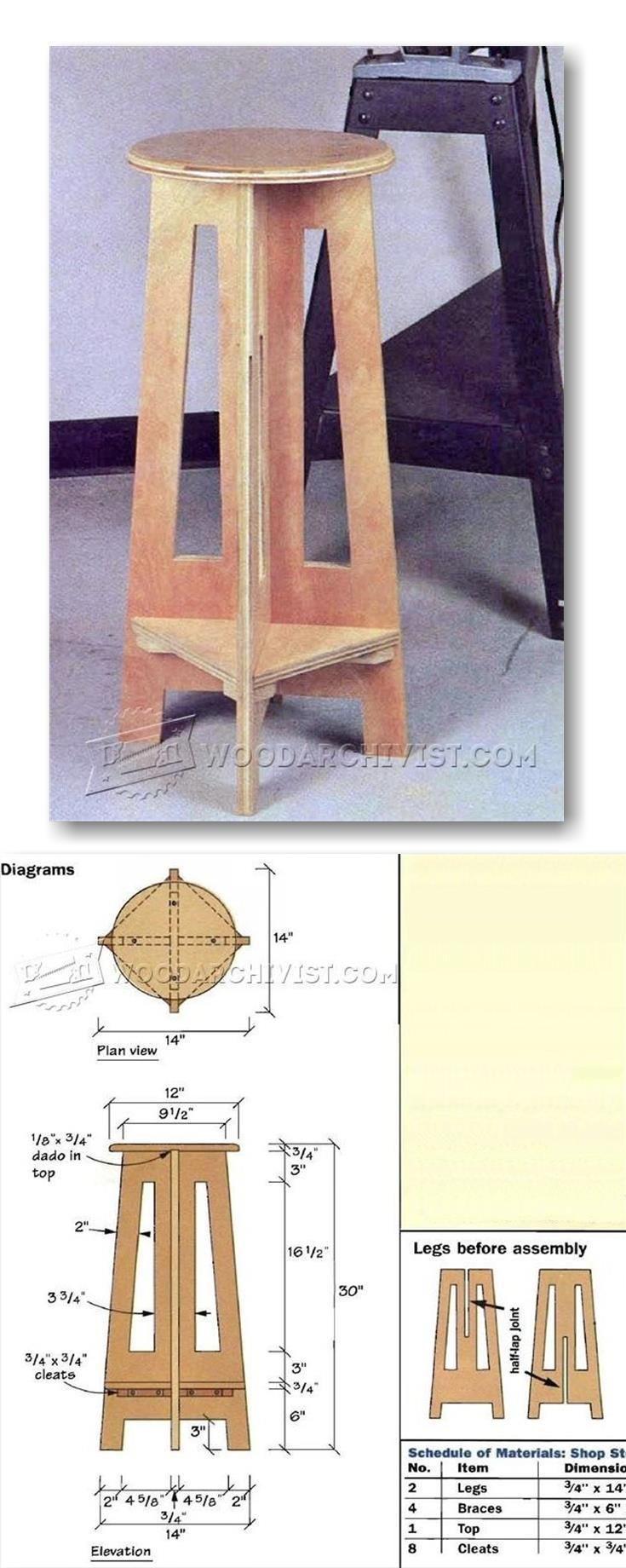 Simple Shop Stool Plans - Workshop Solutions Plans, Tips and Tricks | WoodArchivist.com