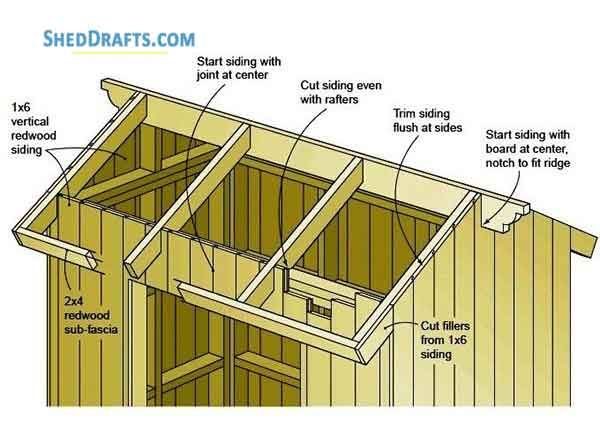 4 6 Lean To Roof Tool Shed Plans Blueprints For Potting Shed Shed Plans Shed Tool Sheds
