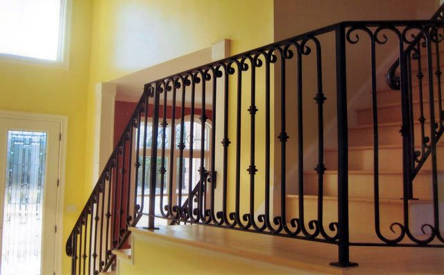 Best 18 Best Rustic Iron Railings Images On Pinterest Stairs 400 x 300