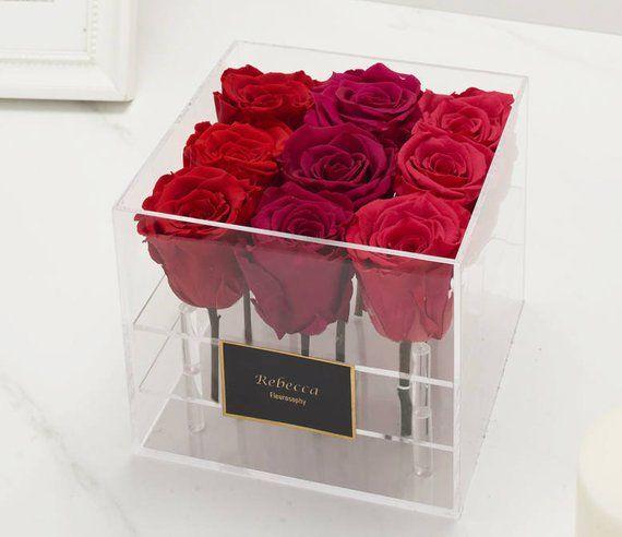 Acrylic Preserved Rose Box