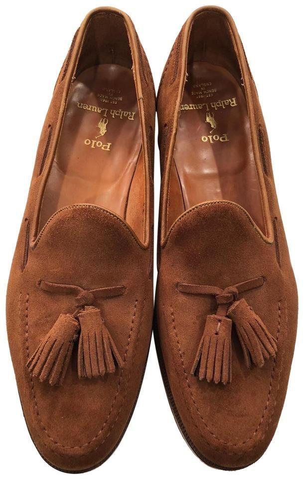 Cognac Suede Rl Tassel Loafers Flats