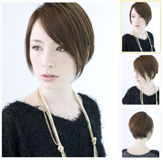 sort of like a shorter a-line with long front bangs