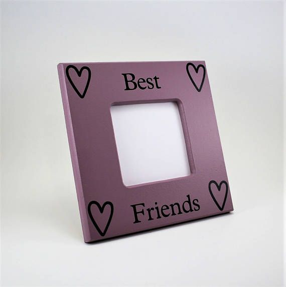 purple picture frame best friend picture frame 8 x 8 frame custom picture frame saying quotes picture frame gift present wood frame