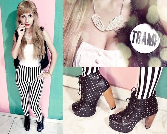 Jeffrey Campbell Lita Shoes, Fada Açucarada Skull Hands Necklace, Renner Plush Vest