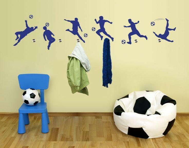 Haken-Wandtattoo Fußballer  #WM #Brasilien #Garderobe