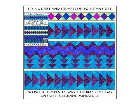 SQUARES-ON-POINT AND FLYING GEESE: Tubular Strip Piecing Pattern