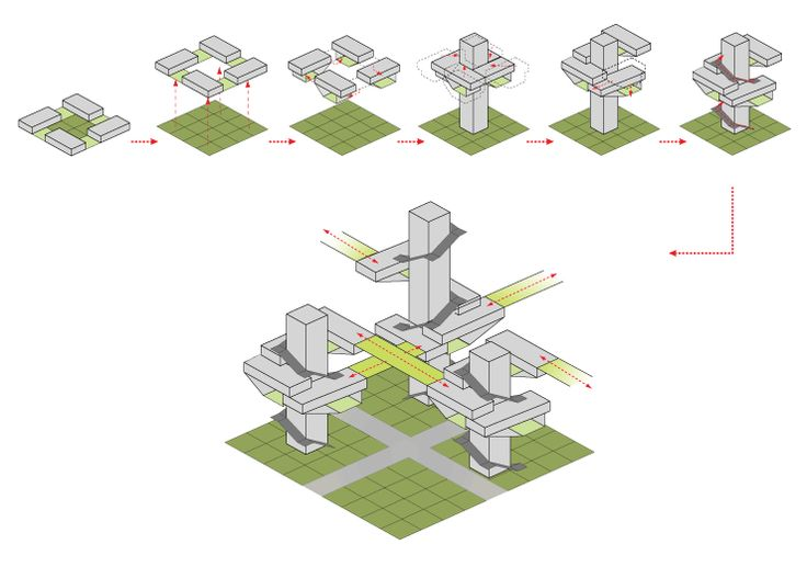 Hybrid Forest 24 Studio Architectural Diagrams
