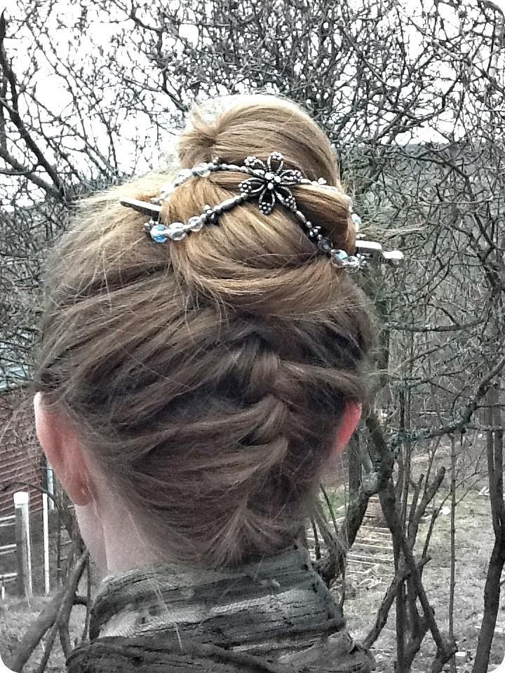 Upside Down French Braid Messy Bun 17 Best images about F...