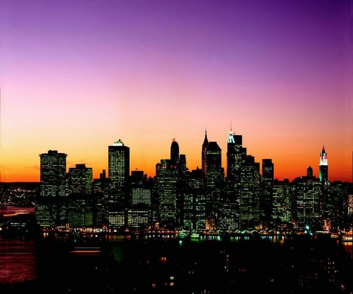 Evening city light.