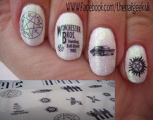 Supernatural nail art