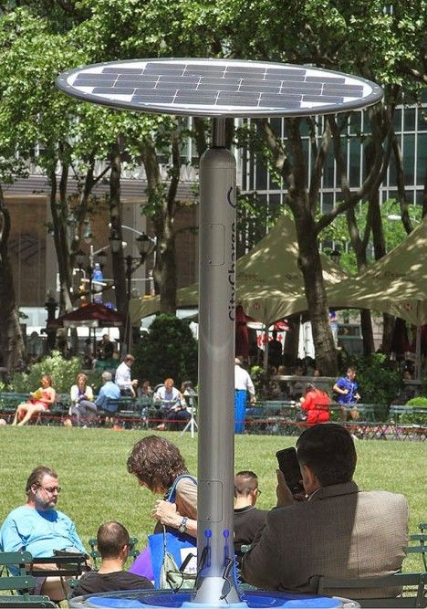 CityCharge: Solar Gadget Charging Stations Installed in NYC