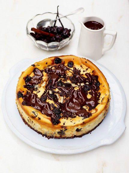 Tarta de cerezas y chocolate de Jamie Oliver