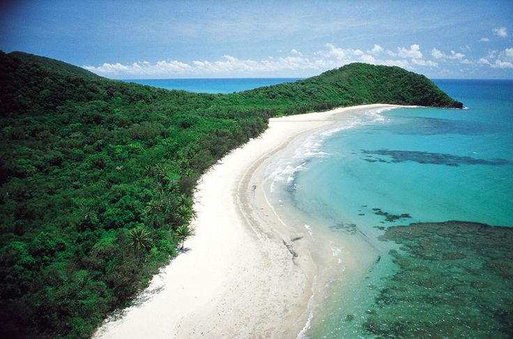 Two World Heritage areas meet- The Great Barrier Reef  Daintree Rainforest