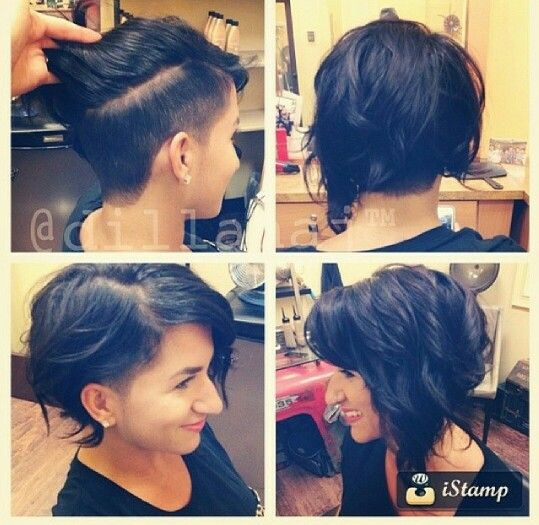 Love.. this is how I'm going to let my hair grow out!!