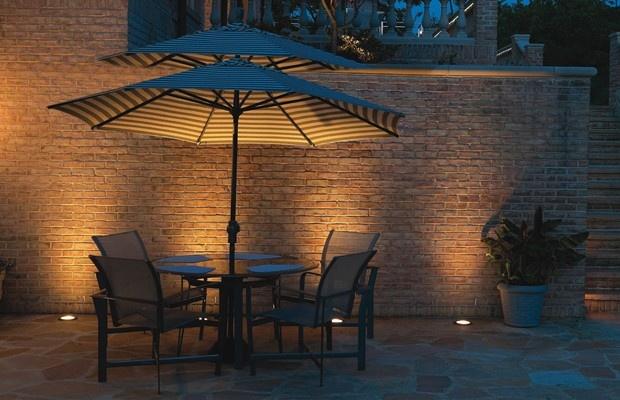 Hadco Well Lights Grazing A Brick Wall Light A Few