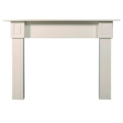 Ornamental Mouldings - Ensemble de manteau Contemporain, peint en blanc - 72 po x 51-3/4 po - MTCONT-WHITE - Home Depot Canada