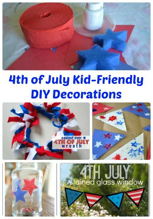 4th of July Kid Friendly DIY Decorations   The Jenny Evolution