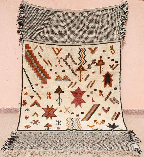 Wandteppich, Wandbehang, Überwurf, Decke, Kelim Teppich Schwarz Weiß, Henna Roter Wollteppich, Sterne, Rauten, Beduinen Stammes Teppich