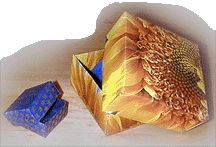 Beadwork Presentation Box at Sova-Enterprises.com   Learn to make these origami-inspired boxes.   $2.00 to purchase the pattern.  Pretty good deal to make professional looking boxes.
