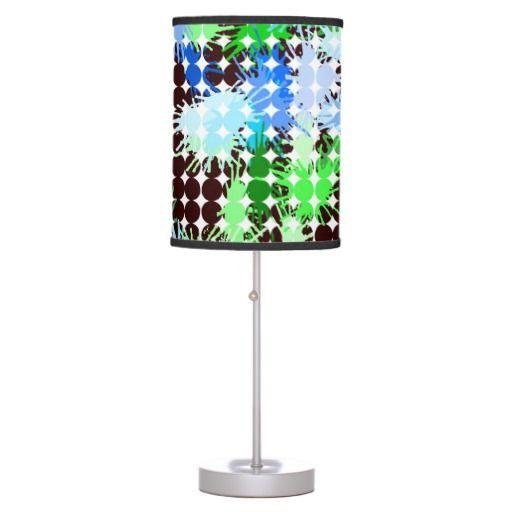 #Paintball lovers delight - Blue, Green and Black Paint Splatter table Lamp