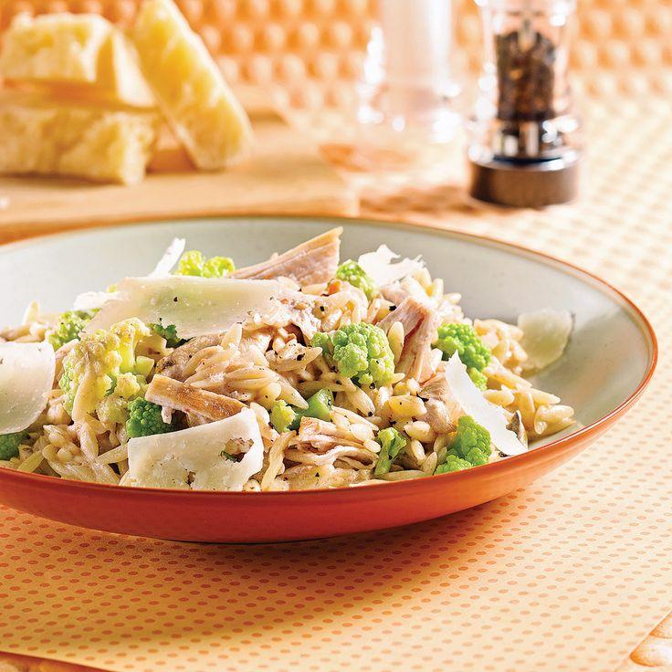 Orzo au poulet et broco-fleur - Recettes - Cuisine et nutrition - Pratico Pratique