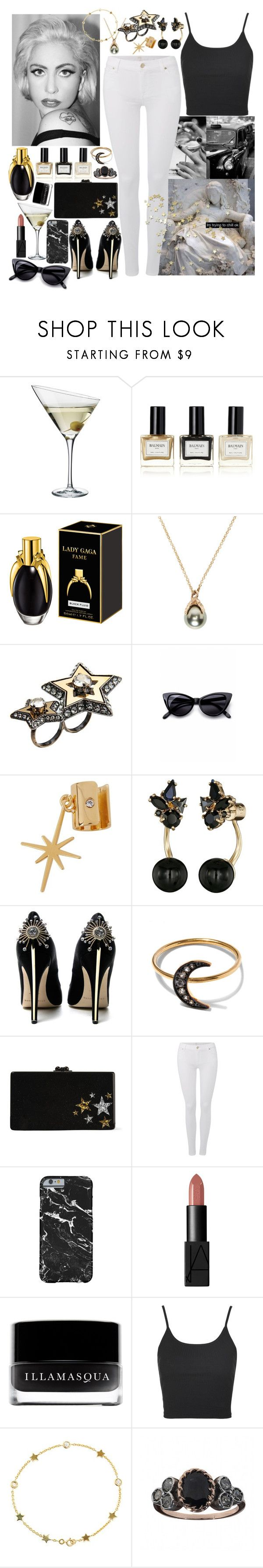 """Marry The Night - Lady Gaga"" by leo8august ❤ liked on Polyvore featuring Eva Solo, Balmain, Pearls Before Swine, Lanvin, Retrò, Maria Francesca Pepe, Kate Spade, Brian Atwood, Andrea Fohrman and Edie Parker"