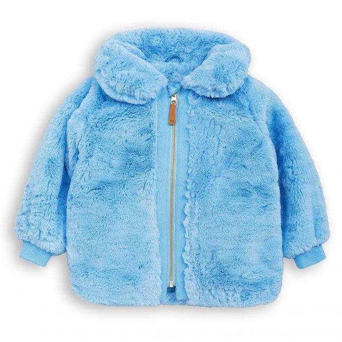 Mini Rodini Faux Fur Jacket Light Blue Baby Outerwear Baby Fur Jackets Faux Fur Jacket
