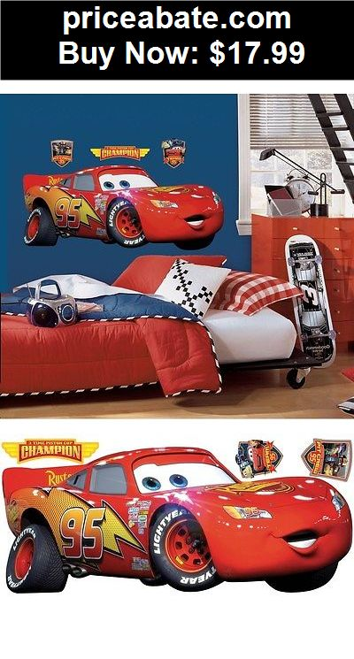 Kids At Home: New GIANT LIGHTNING MCQUEEN WALL DECAL Disney Cars Movie  Stickers Part 94