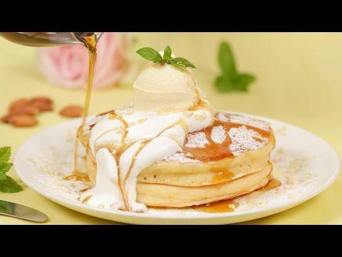 JAPANESE-STYLE PANCAKES  ホットケーキ(パンケーキ) (Milk, Cream, Ice Cream, almond)