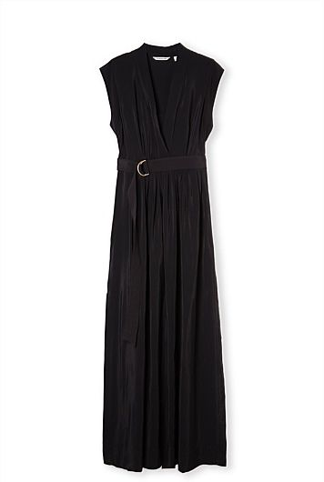 Love the effortless style of this black V-neck maxi dress from Country Road