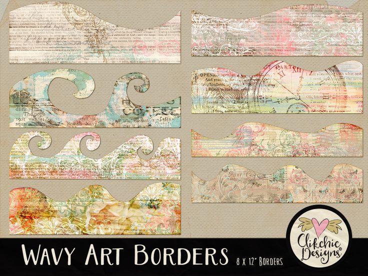 Wavy Art Borders