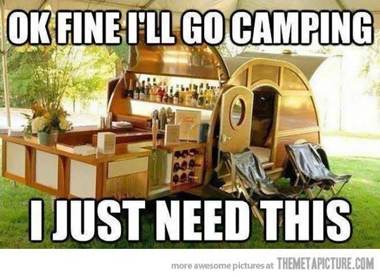 Christy, you are so right. This is my idea of how camping should be LOL!