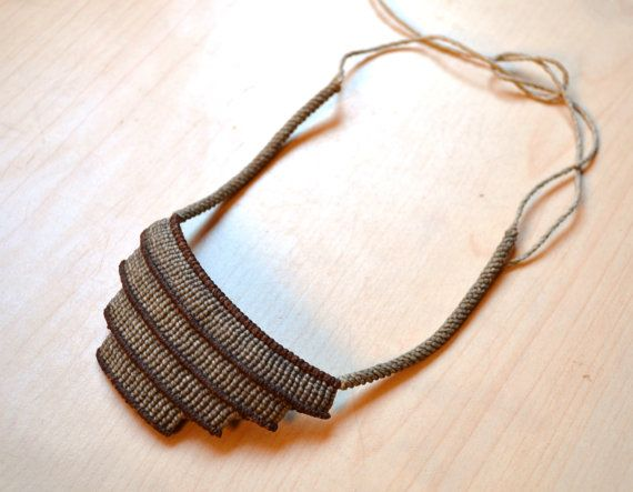 Temple Necklace/ Fiber Art/ Micromacrame/ Peruvian by SpiritYSol