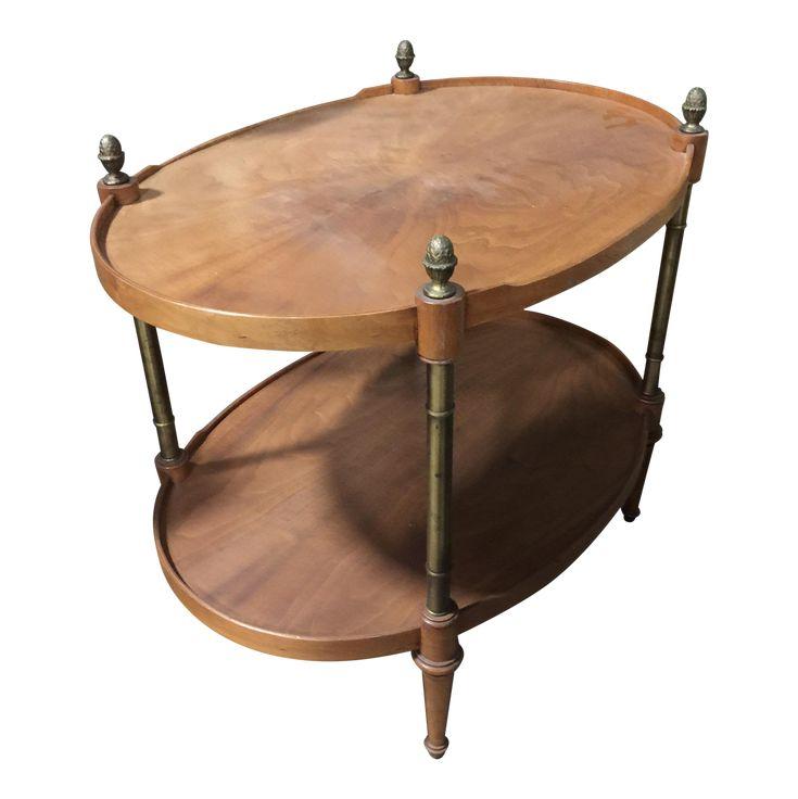 Vintage Oval Wood Coffee Table on Chairish.com. $76